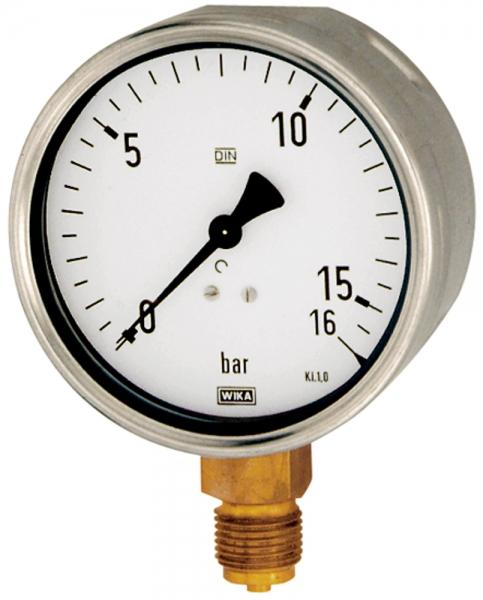 Manometer, Robustausführung, G 1/2 unten, -1 / +5,0 bar, Ø 100