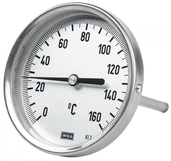 Bimetallthermometer, G 1/2 hinten, L=100, Ø 100, 0 °C bis 160 °C