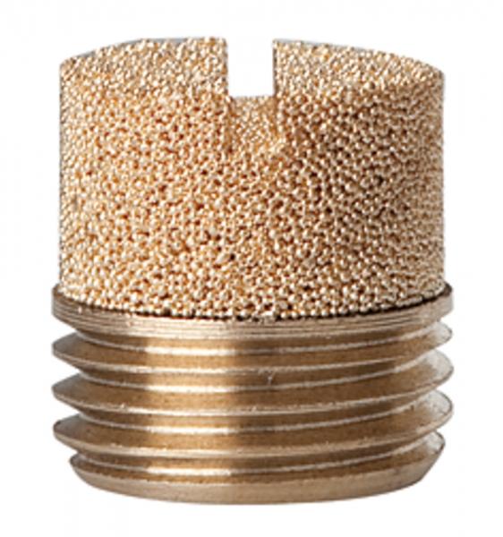 Sinterbronce-Schalldämpfer, Schlitz, G 3/8, max. 10 bar