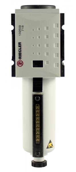 Vorfilter »FUTURA«, Metallbeh., Sichtrohr, 0,3 µm, BG1, G 3/8, VA