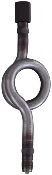 Wassersackrohr in Kreisform, Anschlusszapfen, G 1/2, CrNi-Stahl