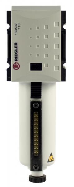 Filter »FUTURA« mit Metallbeh., Sichtrohr, 5 µm, BG 1, G 3/8, VA
