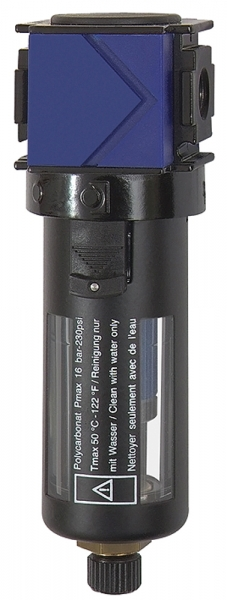 Mikrofilter »variobloc«, mit PC-Behälter, Schutzkorb, BG 2, G 1