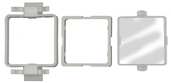 Einbaurahmen mit Schutz-Abdeckung aus Kunststoff, Digital-Mano