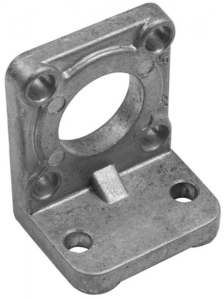 Winkelflansch, CETOP, Ø32, 1 Stück mit 4 Schrauben
