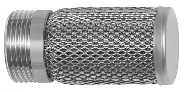 Saugkorb für Rückschlagventile, Edelstahl 1.4301, G 3