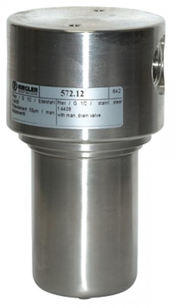 Edelstahl-Filter, 1.4404, 50 µm, G 1/2
