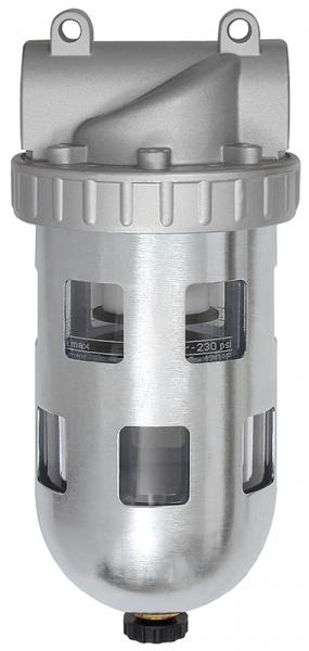 Filter »Standard«, PC-Behälter und Schutzkorb, 5 µm, BG 3, G 1/2