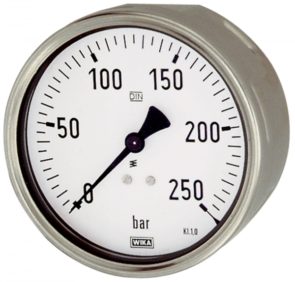 Manometer, Robustausf., G 1/2 hinten exzentr., 0-250,0 bar, Ø 100