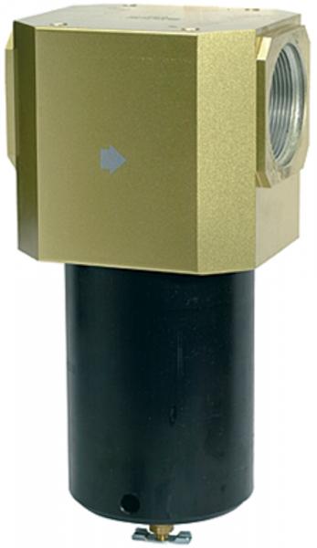 Filter für hohe Drücke bis 40 bar, mit Handablassventil, G 1 1/2