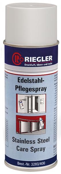 RIEGLER Edelstahl-Pflegespray, Temperatur -17°C bis 120°C, 400 ml