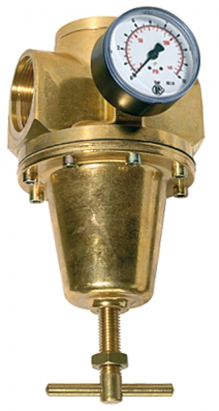 Konstant-Druckregler inkl. Manometer, BG 4, G 1 1/4, 0,5 - 3 bar