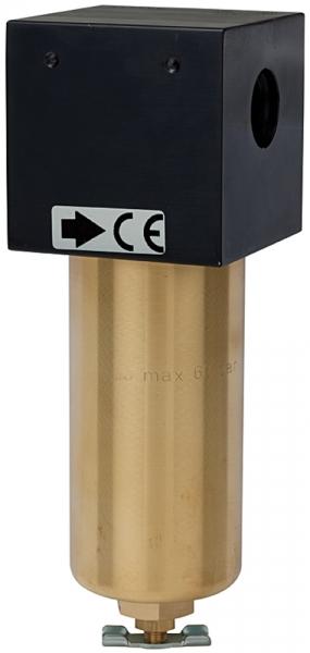 Filter für hohe Drücke bis 60 bar, mit Handablassventil, G 1