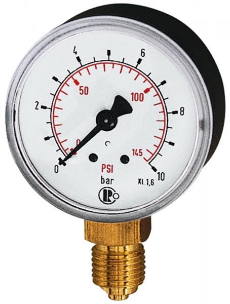 Standardmano, Kunststoff, G 1/8 unten, 0 - 6,0 bar/86 psi, Ø 40