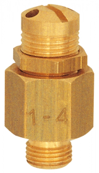 Mini-Abblasventil, Messing, G 1/4, Ansprechdruck 30,0 - 60,0 bar