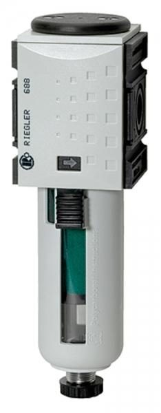 Mikrofilter »FUTURA«, PC-Behälter, Schutzkorb, BG 1, G 1/4, VA