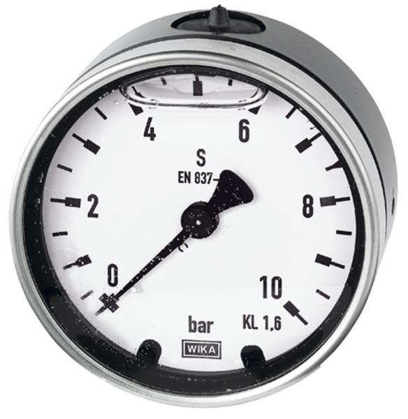 Glyzerinmano, Metallgeh., G 1/2 hinten exzentr., 0-400 bar, Ø 100