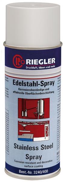 RIEGLER Edelstahl-Spray, Temperatur max. 300 °C, 400 ml
