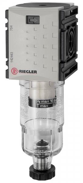 Vorfilter »FUTURA-mini« mit PC-Behälter, 0,3 µm, BG 0, G 1/4, HA