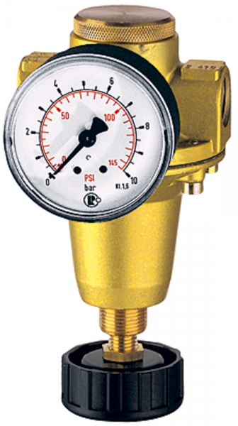 Konstant-Druckregler inkl. Manometer, BG 1, G 1/4, 0,5 - 6 bar