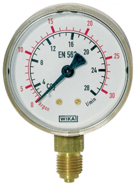 Manometer Sauerstoff, G 1/4 radial unten, 0 - 20/40 bar, Ø 63 mm