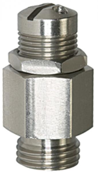 Mini-Abblasventil, Edelstahl, G 1/8, Ansprechdruck 6,0 - 12,0 bar