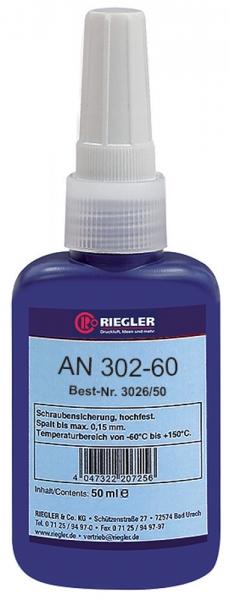 RIEGLER Lock AN 302-60, anaerober Klebstoff, hochfest, 50 ml