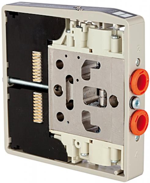 Ventilscheibe HDM, Anschl. 8 mm, 5/2-Wege monostabil, nutzt 1 Pin